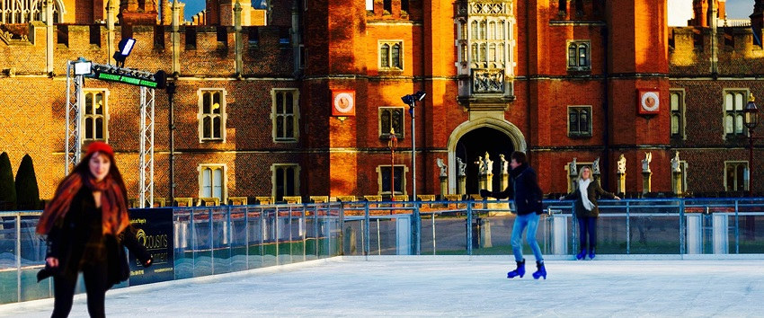 Hampton Court Palace Ice Rink London