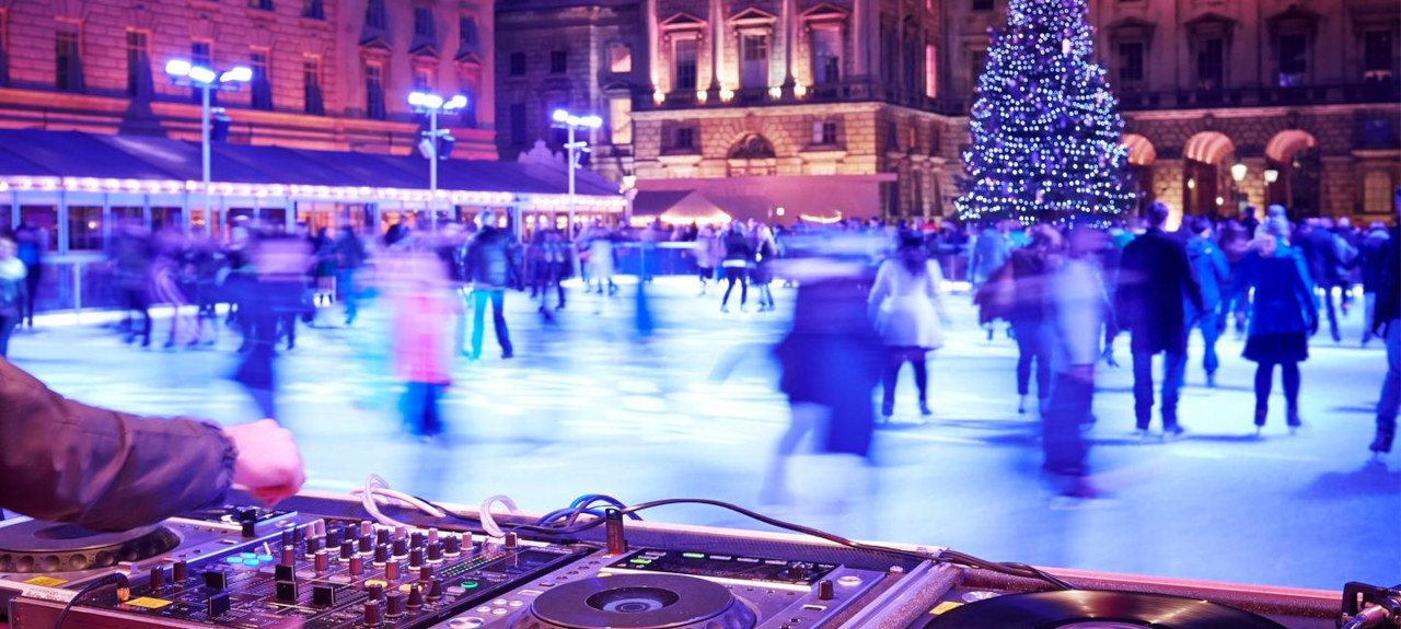 Somerset House Ice Skate club london