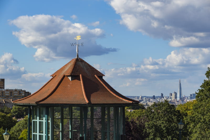 Horniman Museum grounds Forest Hill London view
