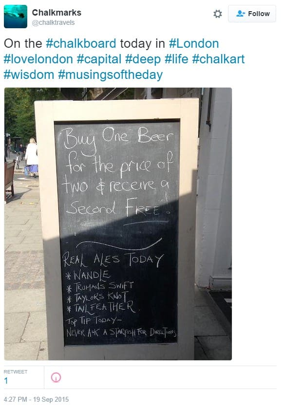 Spotted outside a London coffee shop | Blog | Hull Trains