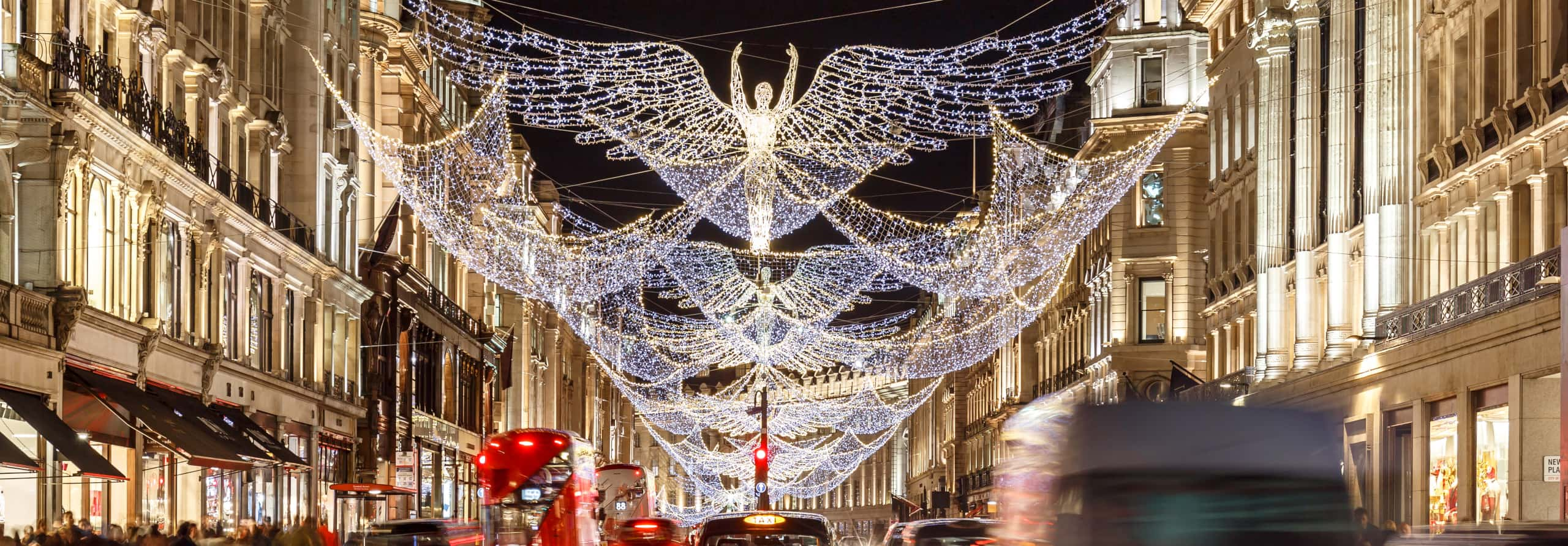 Christmas in London Regent Street Angel Lights