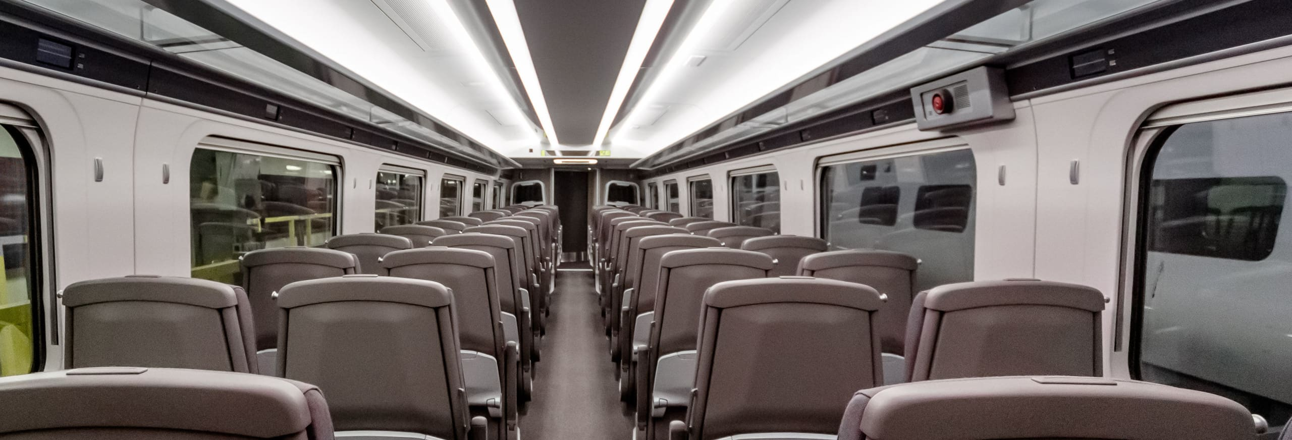 Example of new Hitachi train interior