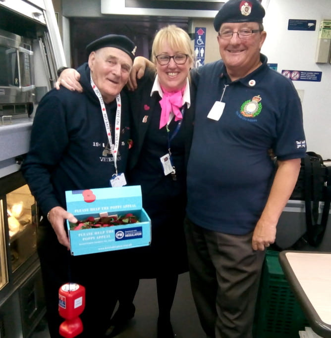 Hull Trains Royal British Legion poppy appeal