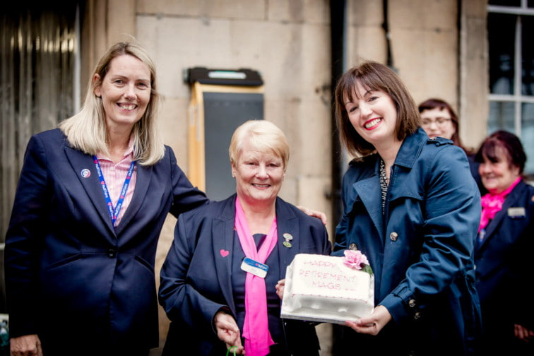 Hull Trains bids farewell as colleague Mags retires