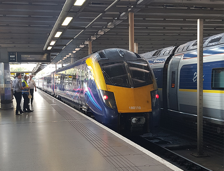 A Hull Trains service in St Pancras