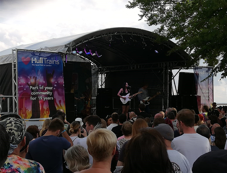 Hull Trains sponsored the Dead Bod stage at Humber Street Sesh