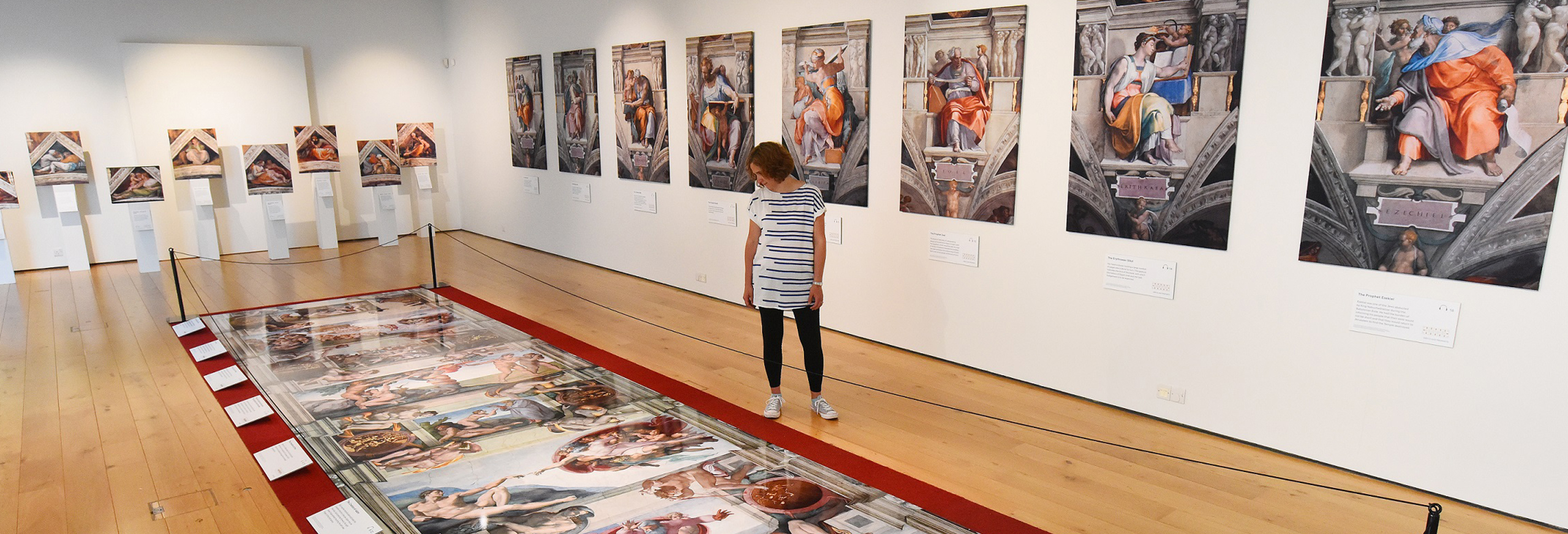 Leading local businesses are supporting the Sistine Chapel exhibition at Hull Minster, enabling church leaders to make it free to visitors. This picture shows part of the exhibition when it opened recently in Winchester. Picture: Solent News & Photo Agency.