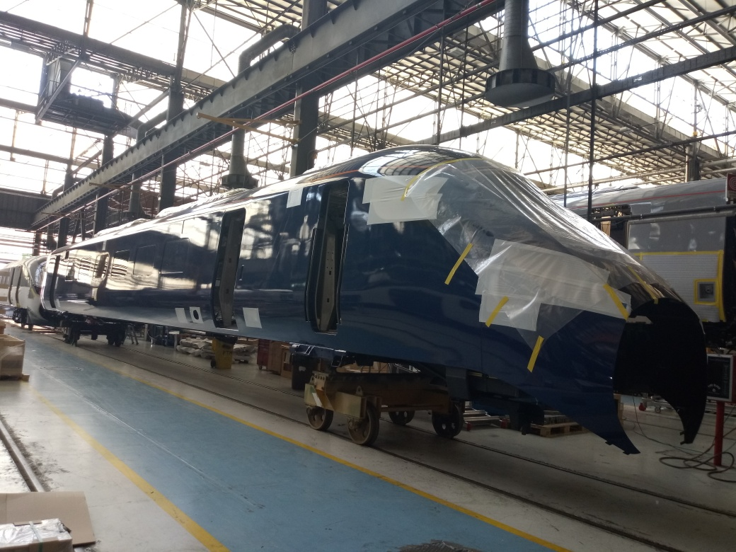 Hull Trains' new trains in Pistoia, Italy