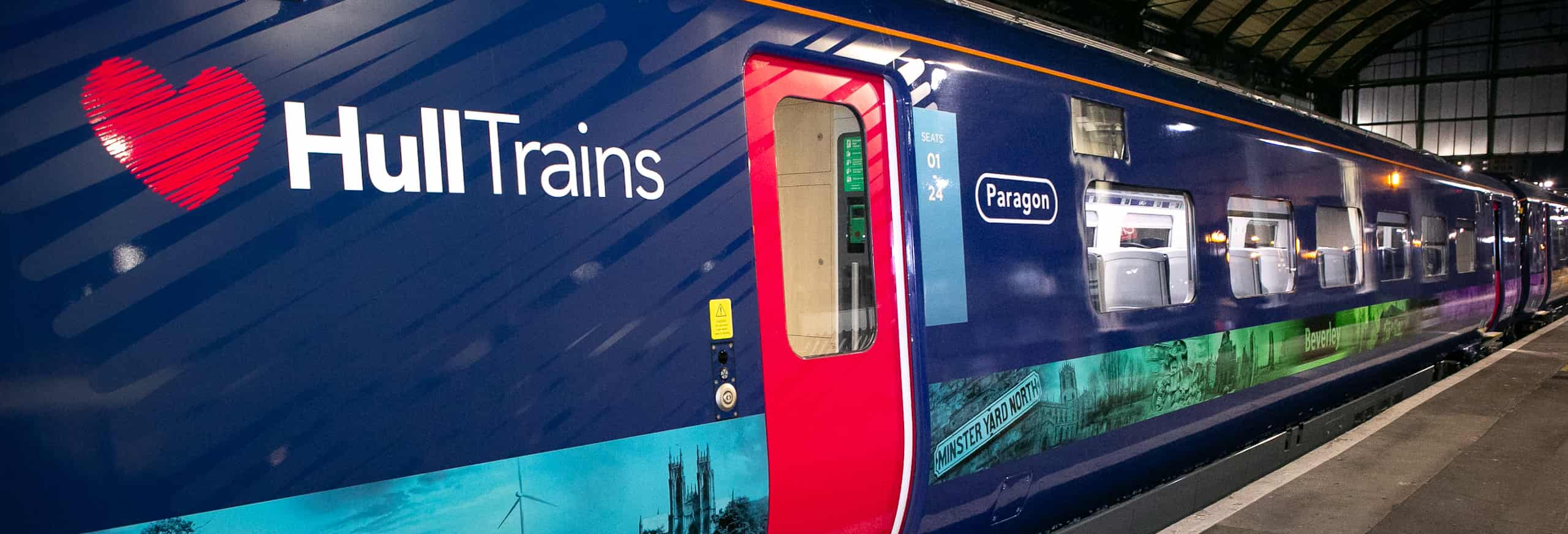Hull Trains First Paragon Service