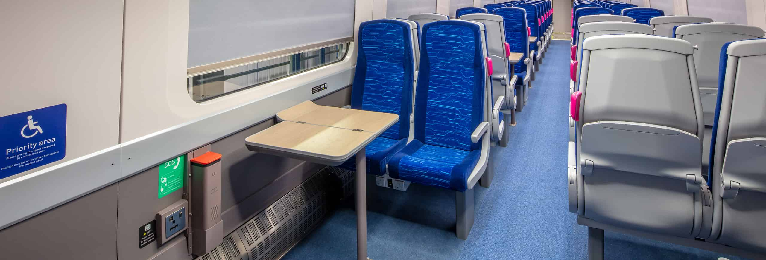 Hull Trains Paragon standard class accessible area