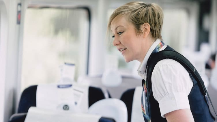 Hull Trains attentive on board staff