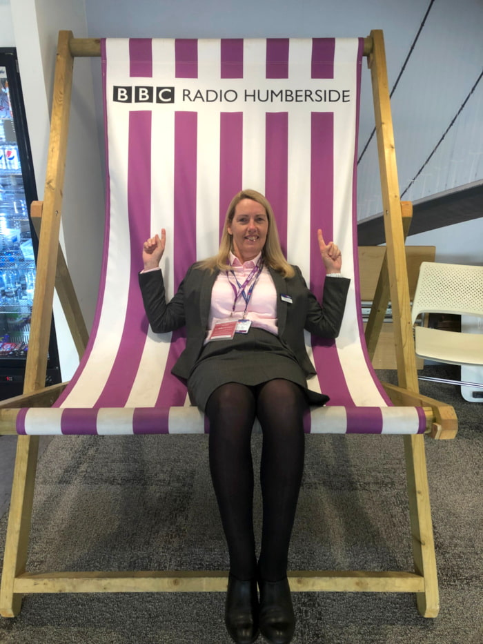 Hull Trains MD Louise Cheeseman at Radio Humberside